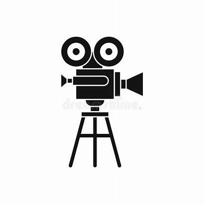 Projector Icon Film Retro Simple Symbol Isolated