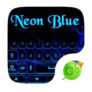 Download Neon Blue GO Keyboard Theme for PC