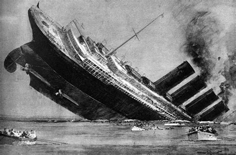 extra lusitania torpedoed by german submarine the