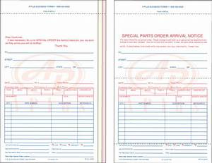 Special Part Order Forms