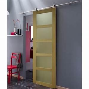 Porte Coulissante Grande Largeur : porte coulissante en chene 5 vitrages largeur 83 cm ~ Dailycaller-alerts.com Idées de Décoration