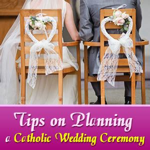 planning a wedding ceremony tips on planning a catholic wedding ceremony