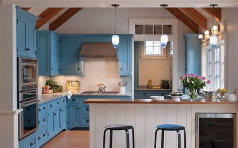 blue kitchen hutch 24 blue kitchen cabinet ideas to breathe into your