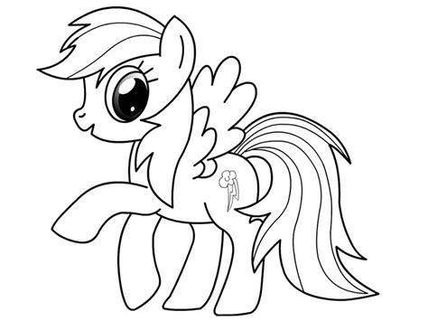 Mewarnai gambar my little pony yang cantik | my little. Gambar Mewarnai Rainbow Dash Untuk Anak PAUD dan TK