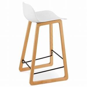 Chaise Mi Hauteur : tabouret de bar chaise de bar mi hauteur scandinave scarlett mini blanc ~ Teatrodelosmanantiales.com Idées de Décoration