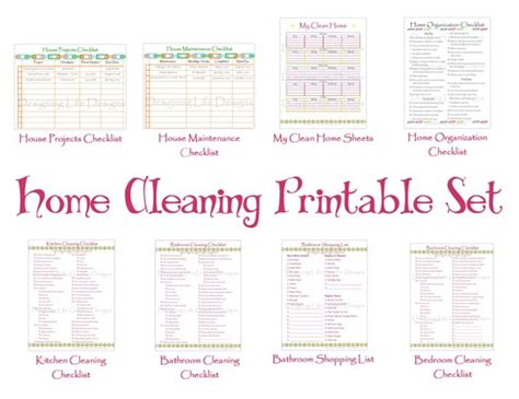 Cleaning Schedule Printable Set Keep Your House By