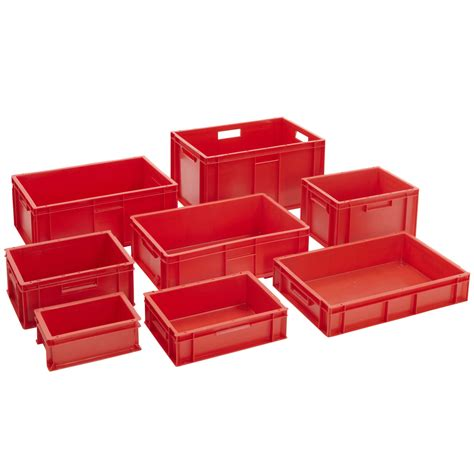 stackable bin storage cabinets stackable euro storage containers red plastic industrial