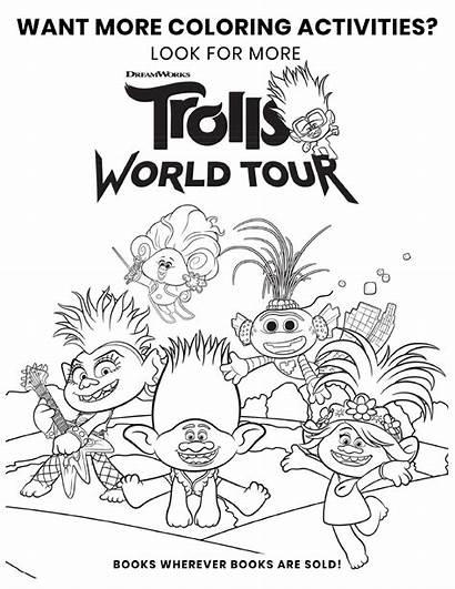 Trolls Coloring Tour Printable Poppy Troll Sheets
