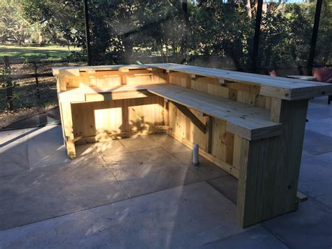 Outdoor L by The Kitchen 10 X 6 2 Level L Shaped Rustic Wood