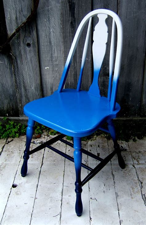 Chair Ombre diy blue ombre fades color chair