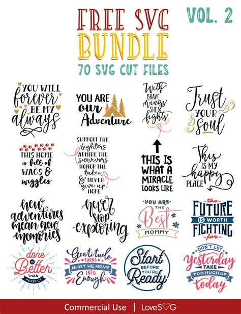 The free cut files include svg, dxf, eps and png files. FREE SVG Bundle Vol. 2 in 2020 | Cricut free, Motivational ...