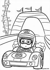 Coloring Race Driver Bubble Guppies Nonny Racing Printable Driving Getcolorings sketch template