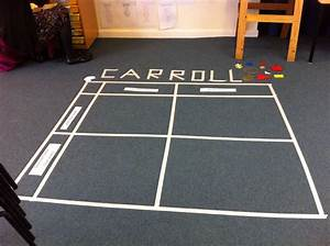 Carroll Diagrams Using Masking Tape On Floor  Ofsted