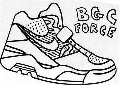 Coloring Nike Jordan Sneaker Printable Outline Air