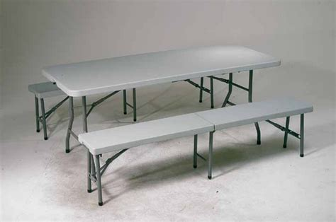 folding table and bench set qt3965 3 piece folding table and bench set office star