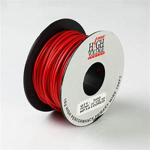 100ft Red Primary Wire 18 Gauge Awg Stranded Copper Power