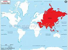 Where is Asia located Asia Location in World Map