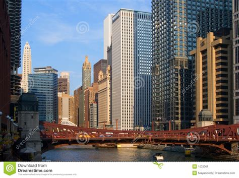 chicago city view stock image image