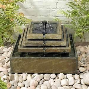 Fontaine De Jardin Solaire : fontaine solaire en ardoise 4 tages ps ~ Dailycaller-alerts.com Idées de Décoration