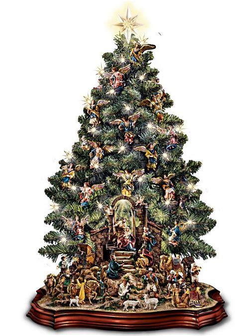 nativity scene musical pre lit tabletop christmas tree