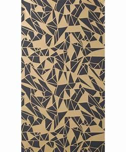 Longueur Rouleau Papier Peint : papier peint monroe 1 rouleau larg 53 cm noir or ~ Premium-room.com Idées de Décoration
