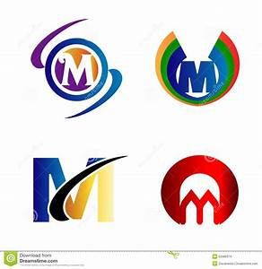 Letter M Logo Icons Set Vector Graphic Design Stock Vector ...
