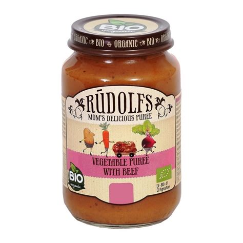 Rūdolfs BIO biezenis bērniem dārzeņi ar jaunlopa gaļu (6m ...