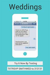 txtrsvp sms text message rsvp for parties birthdays With wedding invitation via text message
