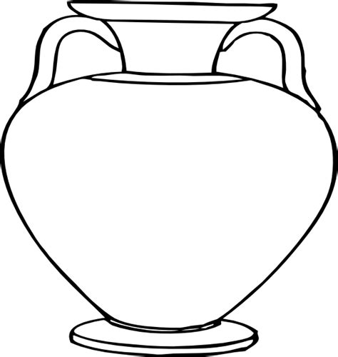 large clay water pots colouring pages clipart