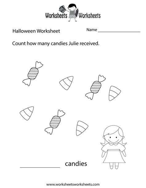 halloween counting worksheet  printable educational