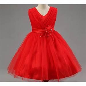 Robe de ceremonie fille rouge for Robe fille rouge