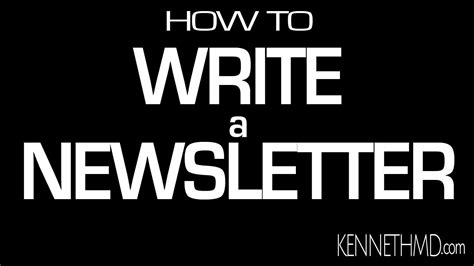 How To Write A Newsletter Youtube