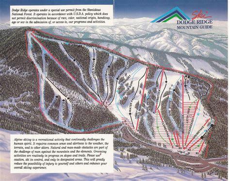 C Dodge Map by Dodge Ridge Ski Area Skimap Org