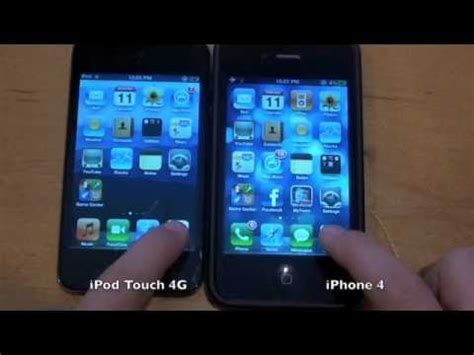 ipod vs iphone ipod touch 4g vs iphone 4 speed test 1681