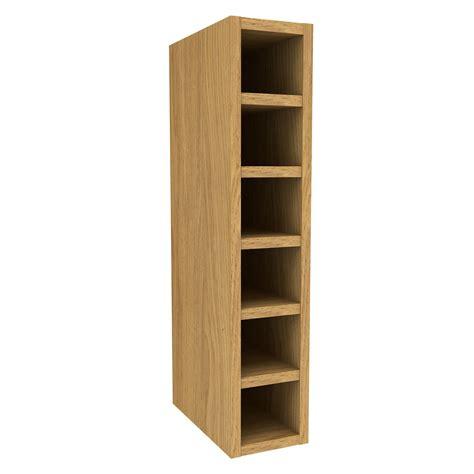 oak effect kitchen cabinets cooke lewis oak effect wine rack wall cabinet w 150mm 3567
