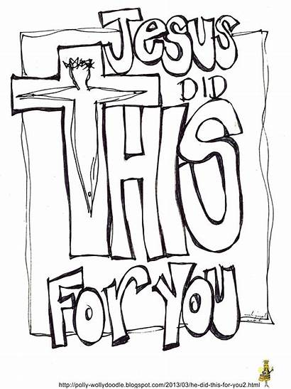 Sunday Bible Easter Did Jesus Coloring Printable