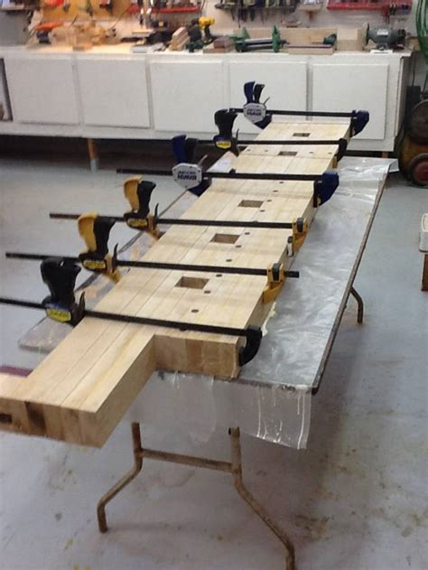 work bench build  bench top glue  woodworkingweb