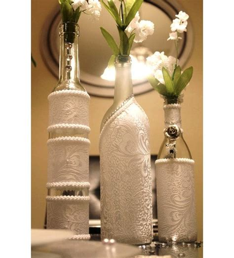 Decorative Wine Bottles For Wedding by Ideas For The Reuse Or Repurposing Of Wine Bottles