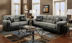 Black and grey living room furniture ideas glass table for Black and brown furniture in living room