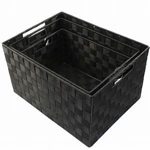 Korb Geflochten Kunststoff : xxl aufbewahrungsbox 3er set badezimmer kiste korb geflochten kiste kosmetik box kaufen bei ~ Markanthonyermac.com Haus und Dekorationen