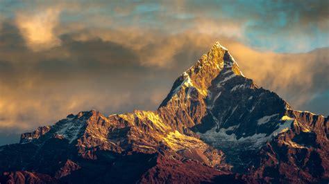 Hd Background Annapurna Mountain Nepal Himalayas Range Sky