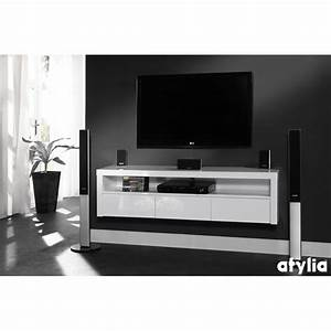 Meuble tv design suspendu beatriz atylia deco for Meuble tv suspendu