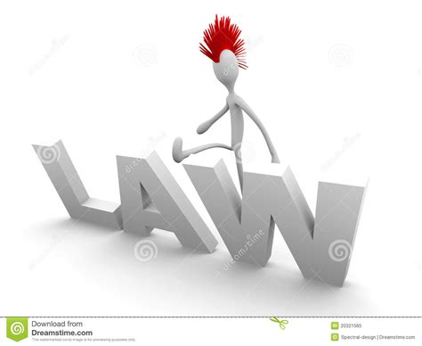 Punk Breaking The Law Stock Illustration Image Of Kick