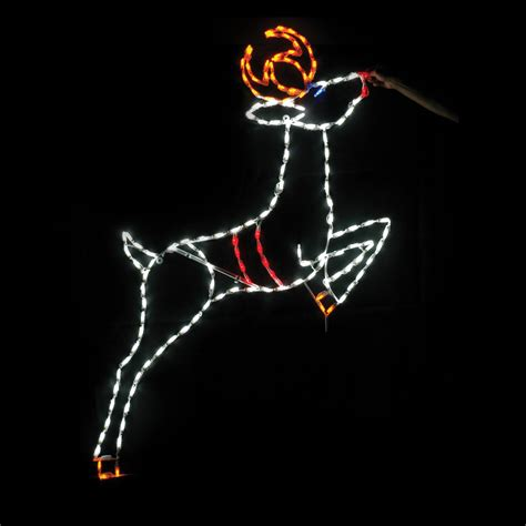 69 in outdoor led leaping reindeer lighted display 150