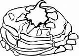 Breakfast Fast Pancakes Clip Cream Whipped Coloring Pancake Menu Onlinelabels Sheet sketch template