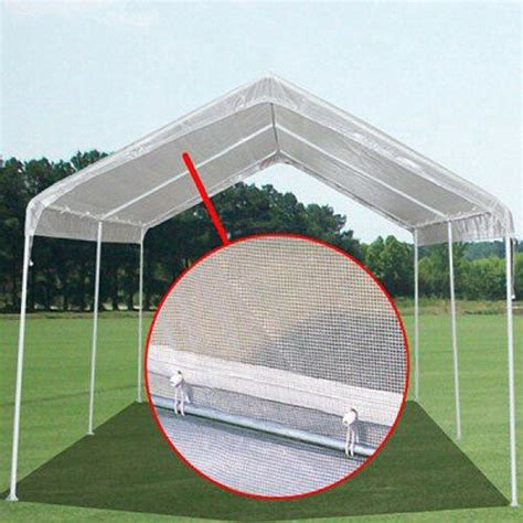 mil hd valance replacement canopy tarp carport cover     frame clear ebay