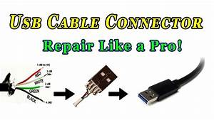 How To Repair Usb Cable Connector - Youtube