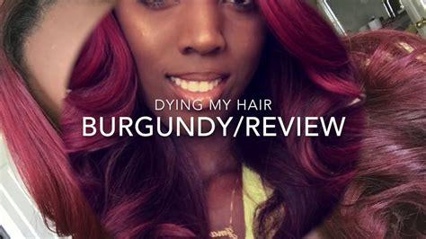diy burgundy hair color hair reivew youtube