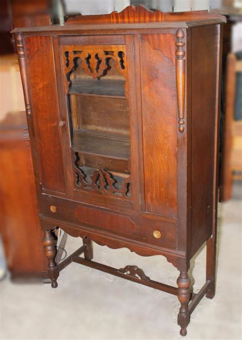antique china cabinet styles vintage jacobean style walnut china hutch ebay