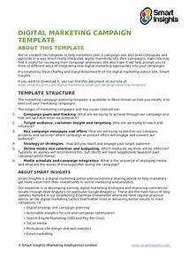 digital marketing campaign template With marketing campaign brief template